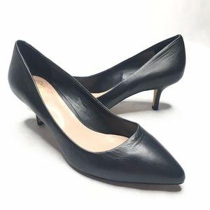 Vince Camuto Goldie Black Kitten Heels Pointed Toe